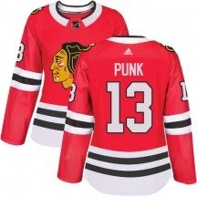 CM Punk Chicago Blackhawks Adidas Women's Authentic Home Jersey - Red