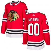 Custom Chicago Blackhawks Adidas Youth Authentic Home Jersey - Red