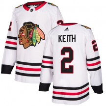 Duncan Keith Chicago Blackhawks Adidas Women's Authentic Away Jersey - White