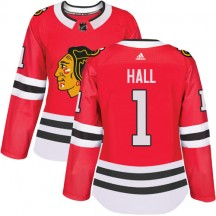 Glenn Hall Chicago Blackhawks Adidas Women's Authentic Home Jersey - Red