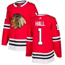 Glenn Hall Chicago Blackhawks Adidas Youth Authentic Home Jersey - Red
