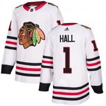 Glenn Hall Chicago Blackhawks Adidas Youth Authentic Away Jersey - White