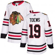 Jonathan Toews Chicago Blackhawks Adidas Youth Authentic Away Jersey - White