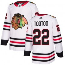 Jordin Tootoo Chicago Blackhawks Adidas Youth Authentic Away Jersey - White