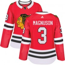 Keith Magnuson Chicago Blackhawks Adidas Women's Authentic Home Jersey - Red