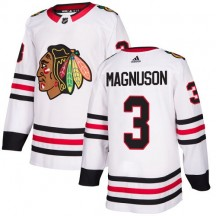Keith Magnuson Chicago Blackhawks Adidas Youth Authentic Away Jersey - White