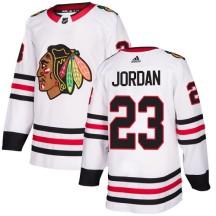 Michael Jordan Chicago Blackhawks Adidas Women's Authentic Away Jersey - White