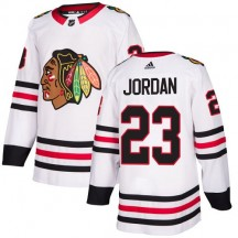 Michael Jordan Chicago Blackhawks Adidas Youth Authentic Away Jersey - White