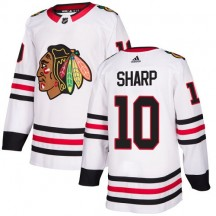 Patrick Sharp Chicago Blackhawks Adidas Youth Authentic Away Jersey - White