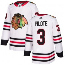 Pierre Pilote Chicago Blackhawks Adidas Youth Authentic Away Jersey - White