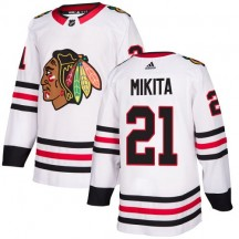 Stan Mikita Chicago Blackhawks Adidas Women's Authentic Away Jersey - White