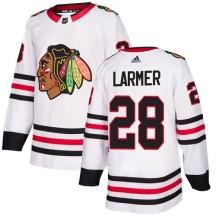 Steve Larmer Chicago Blackhawks Adidas Youth Authentic Away Jersey - White