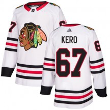 Tanner Kero Chicago Blackhawks Adidas Youth Authentic Away Jersey - White