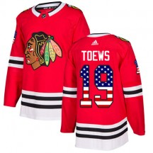Jonathan Toews Chicago Blackhawks Adidas Youth Authentic USA Flag Fashion Jersey - Red