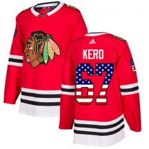 Tanner Kero Chicago Blackhawks Adidas Youth Authentic USA Flag Fashion Jersey - Red