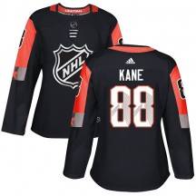 Patrick Kane Chicago Blackhawks Adidas Women's Authentic 2018 All-Star Central Division Jersey - Black