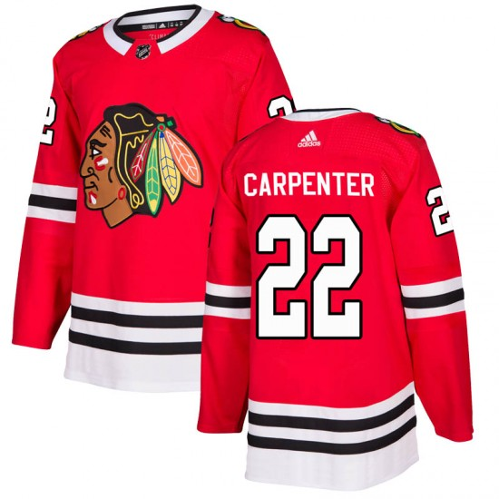 Ryan Carpenter Chicago Blackhawks Adidas Youth Authentic Home Jersey - Red